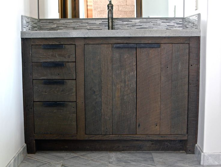 Image Result For Reclaimed Wood Vanity Unit  Find and save ideas about Reclaimed wood vanity on Pinterest. | See more ideas about Ikea glass cabinet, Rustic bathroom vanities and Bathroom vanity with sink..Bathroom The Most Bathroom Top Reclaimed Wood Bathroom Vanity Design Ideas Inside...