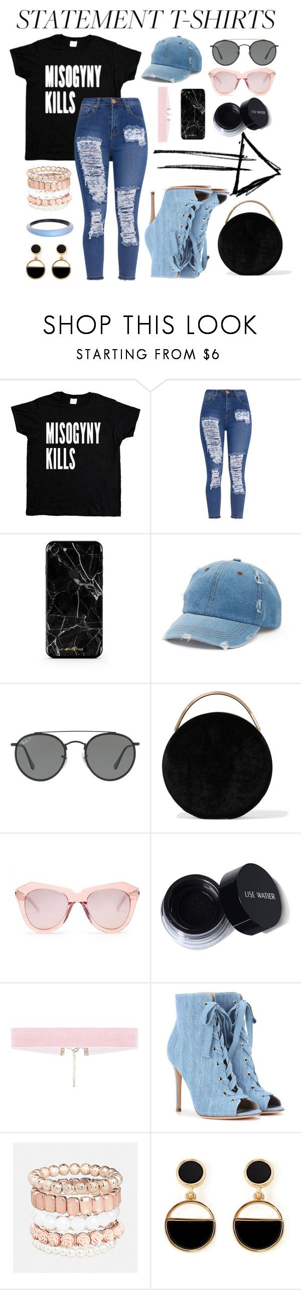"""Untitled #109"" by emmazcheung ❤ liked on Polyvore featuring Mudd, Ray-Ban, Eddie Borgo, Karen Walker, Gianvito Rossi, Avenue, Warehouse and Alexis Bittar"