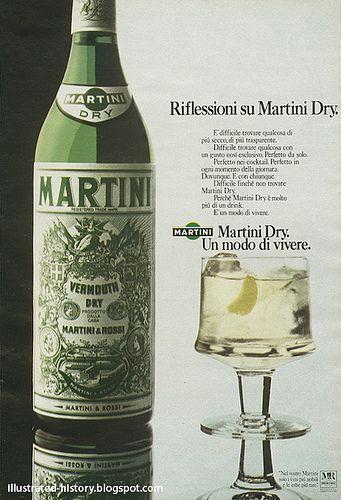 Pubblicità MARTINI DRY 1974 #TuscanyAgriturismoGiratola