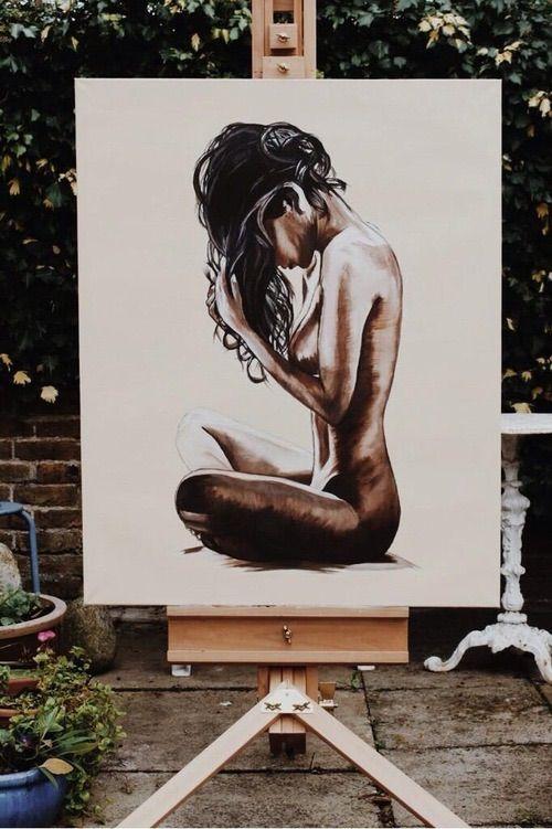 Image via We Heart It https://weheartit.com/entry/161860093 #amazing #art #artschool #artist #beautiful #draw #drawing #illustration #naked #painting #woman