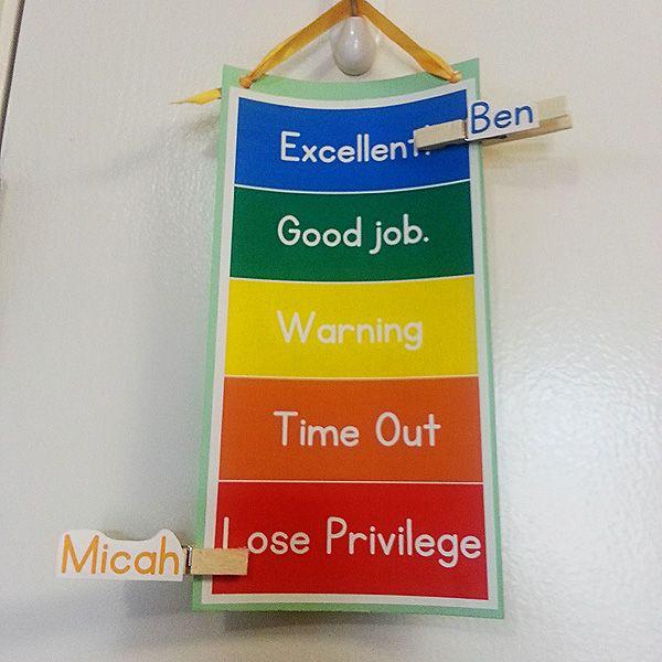 homeschool behavior chart with printable