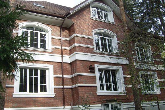Фигурный фасад дома