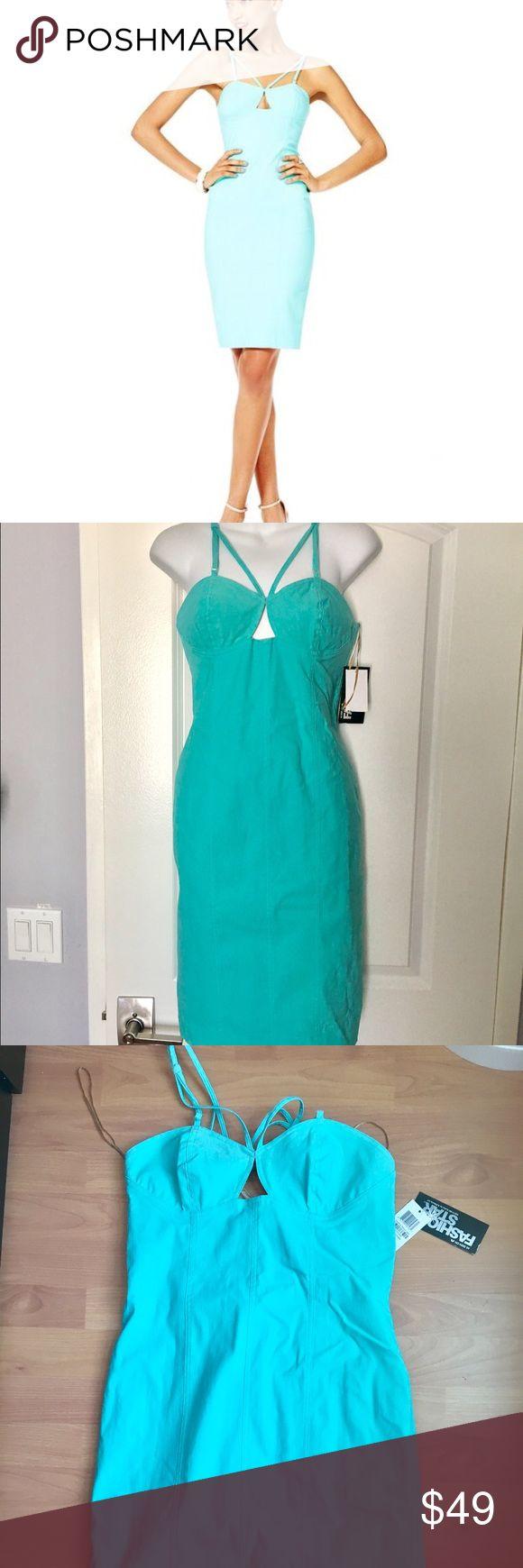 Fashion stars for Macy's aqua green dress New, 6 New with tags aqua color dress by Fashion Stars for Macy's. Size 6 .     item # 043 fashion stars  Dresses Midi