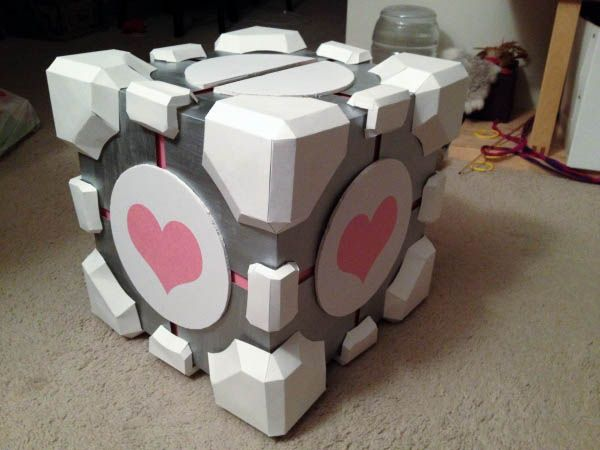 Portal Companion Cube Card Box step by step tutorial!