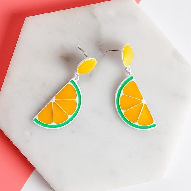 Lime Retro - Earrings - Jewelry   These Bright Retro Inspired Earrings are so Cute! Wear these on a day where a little Color is Needed! #kawaii #earrings