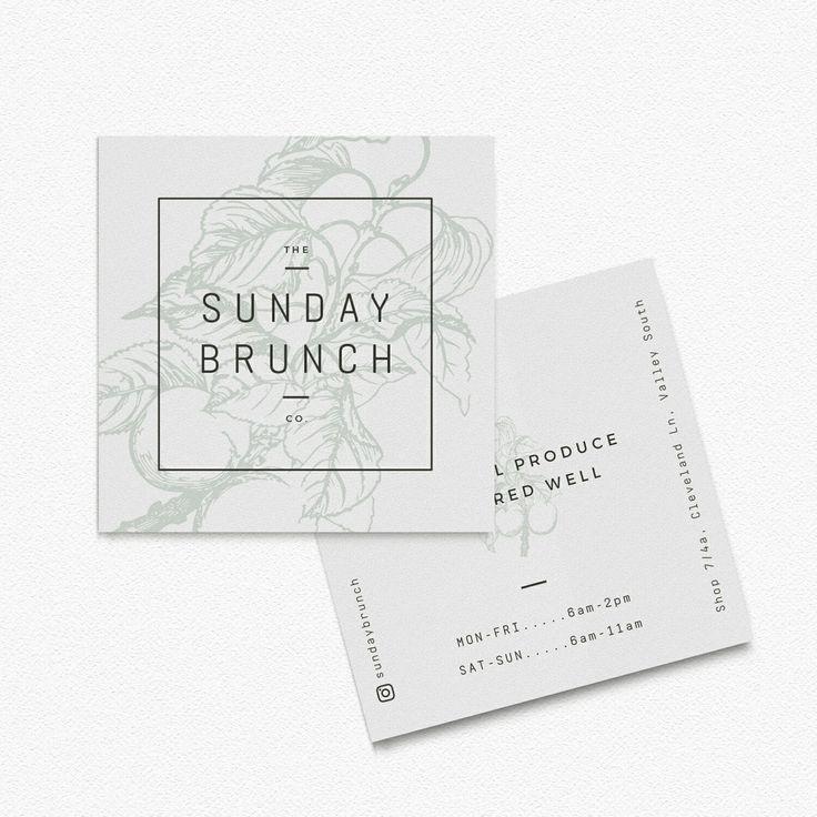 Square business card design for a cafe. #squarelogo #squarebusinesscards…