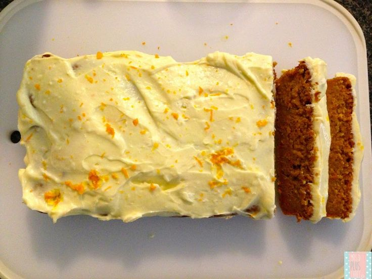 The MOST delicious carrot and apple loaf cake