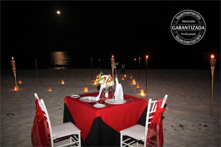 Festeja tu entrega de #anillodecompromiso con una Cena romantica en la playa contactanos www.lovememories.com.mx