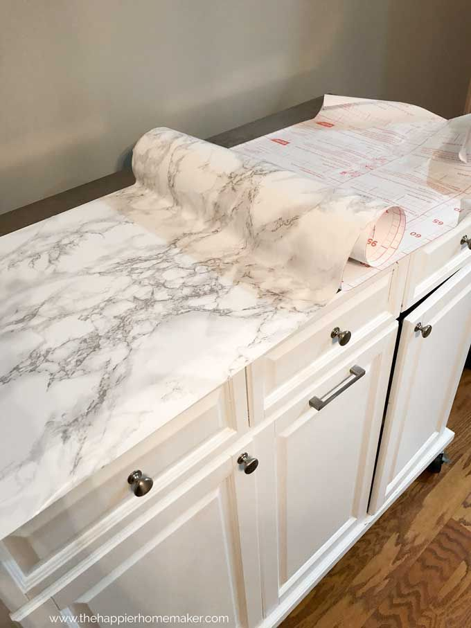 Fake A Marble Countertop With This Easy To Follow Diy Tutorial