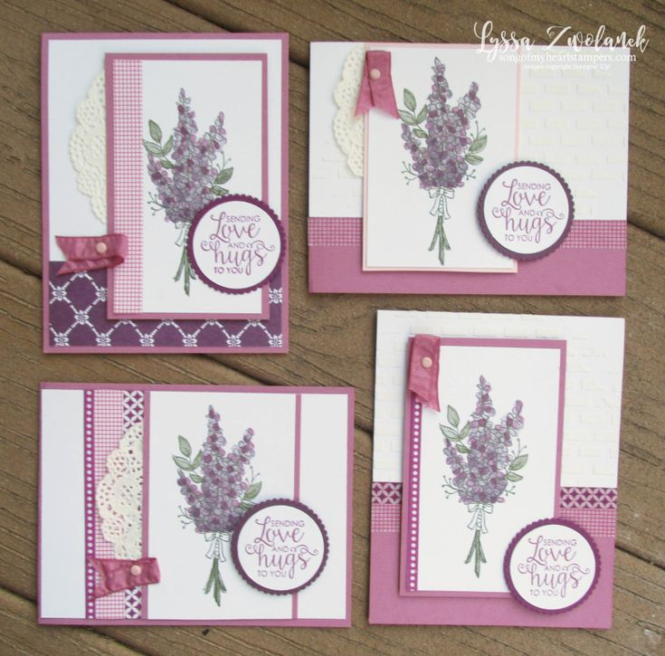 Lots of lavender saleabration stampin up rubber stamps ribbon courage sweet sugarplum