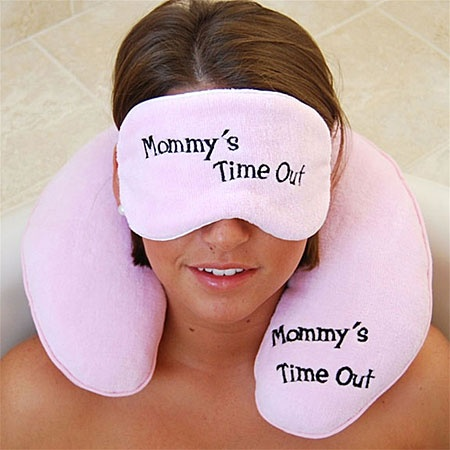 Mommy's Time Out Neck Pillow and Eye Mask Gift Set