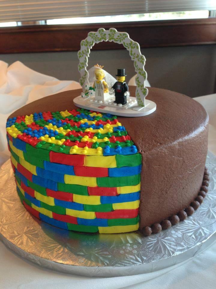 Best Lego Images On Pinterest Modeling Lego Cake And Wedding - Crazy cake designs lego grooms cake design