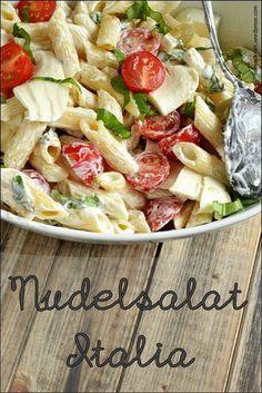 italienischer nudelsalat, super einfach, schnell und vor allem leicht und lekker!!!