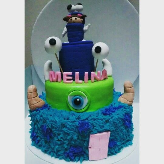 Monster inc cake fondant