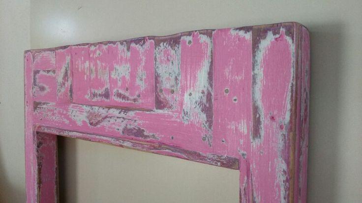 Marco espejo vintage pintura decorativa estilo vintage - Pintura para muebles de madera ...