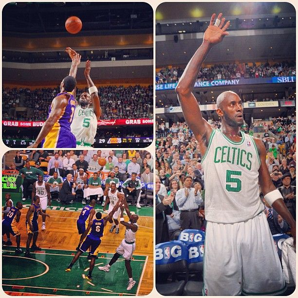 Kevin Garnett joins an elite group by tallying his 25,000th career point on a turnaround jumper in the 2nd quarter. #Celtics lead the #Lakers 58-44 at halftime. #iamaceltic #beatLA