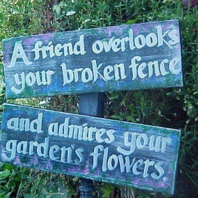 Garden quote - garden sign https://www.facebook.com/pages/Every-Green-Plant/133441696730411?fref=ts