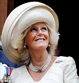 Hats you win: Camilla is a fan of good headwear