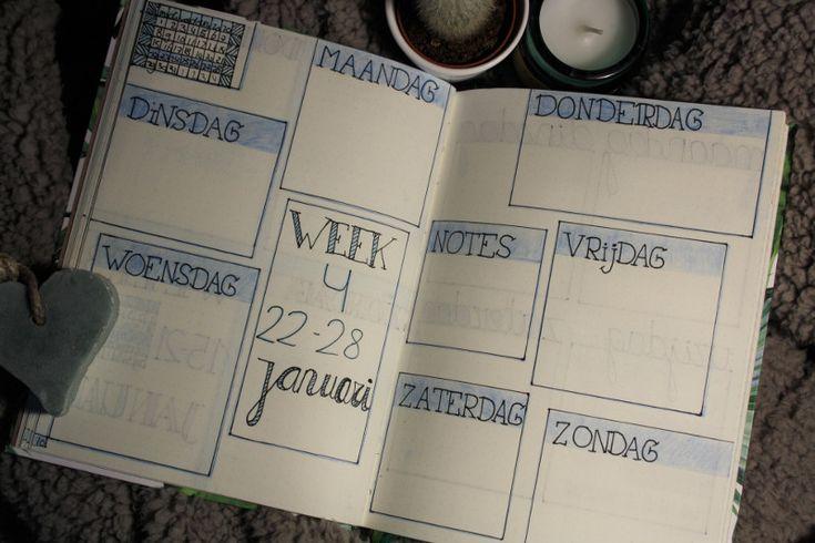 Bullet journal #1 - januari