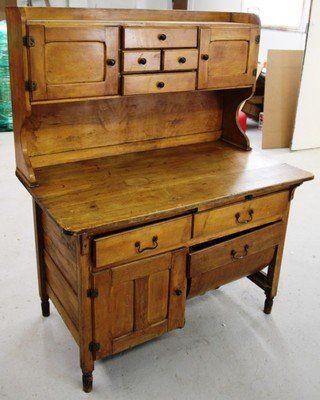 Antique Hoosier Bakers Cabinet   L440 ANTIQUE SOLID AMERICAN BAKERS / HOOSIER LARGE CABINET for Sale ...