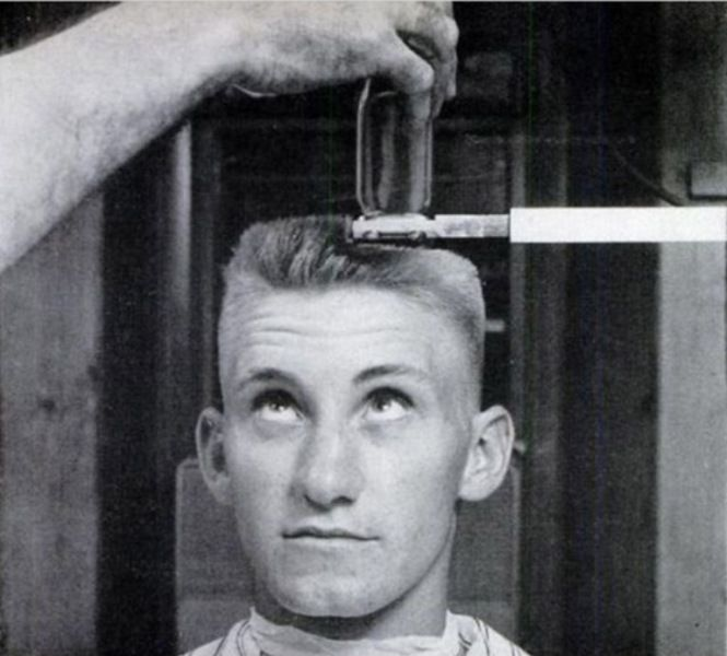 Marvelous Many Barbers Had Developed Levelling Devices Such As This One To Assure The  Perfect Flattop Haircut