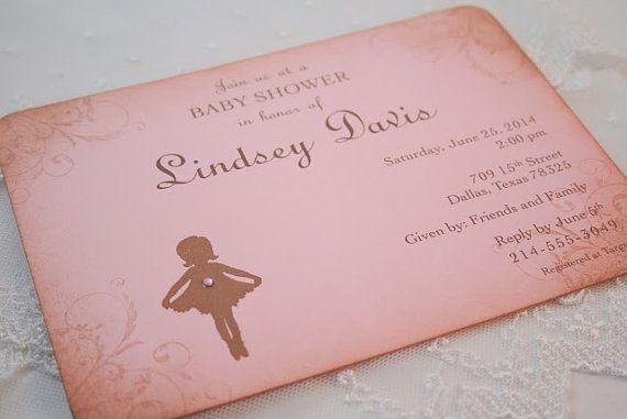 ballerina invitations ballerina baby shower invite vintage style pink