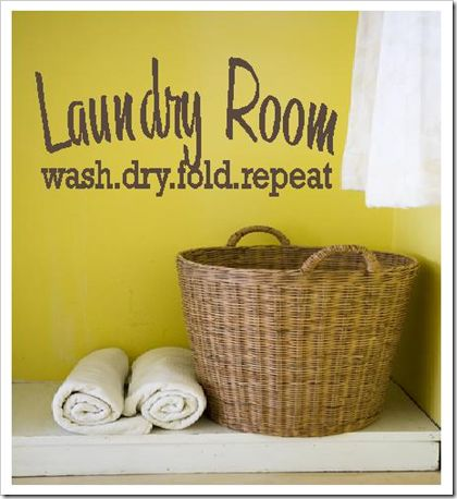 Laundry room, decals