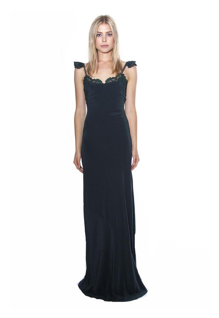Stone cold fox de la vega gown in emerald for Stone cold fox wedding dress