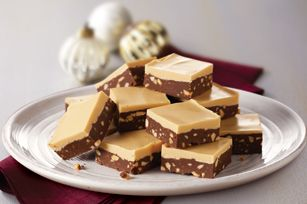 Layered Chocolate-Peanut Butter Fudge recipe