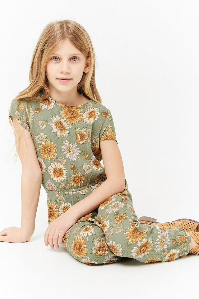 c39f44d42a Girls Gauzy Floral Jumpsuit (Kids)