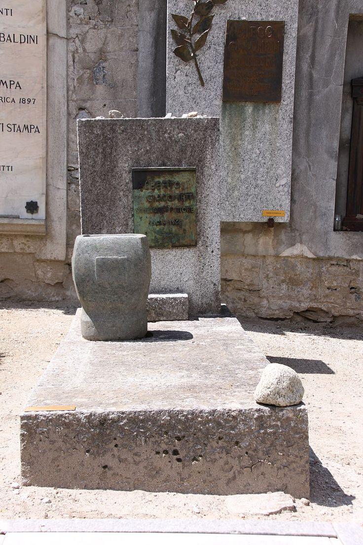 https://ru.wikipedia.org/wiki/Джакометти,_Альберто. Могила Альберто Джакометти в Боргоново, Швейцария.