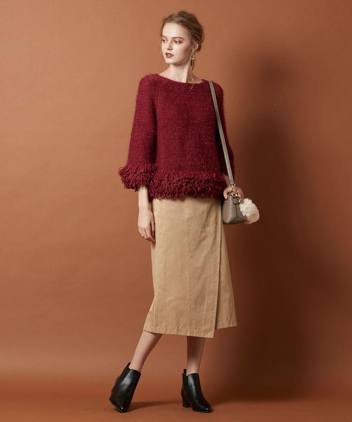 フリンジラグランスリーブニットトップス通販 |titivate【公式】20代・30代・40代レディースファッション・洋服通販