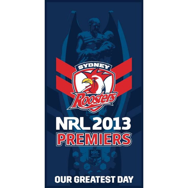 Sydney Roosters 2013 Premiers Towel ***PRE-SALE*** - Sydney Roosters Official Online Store