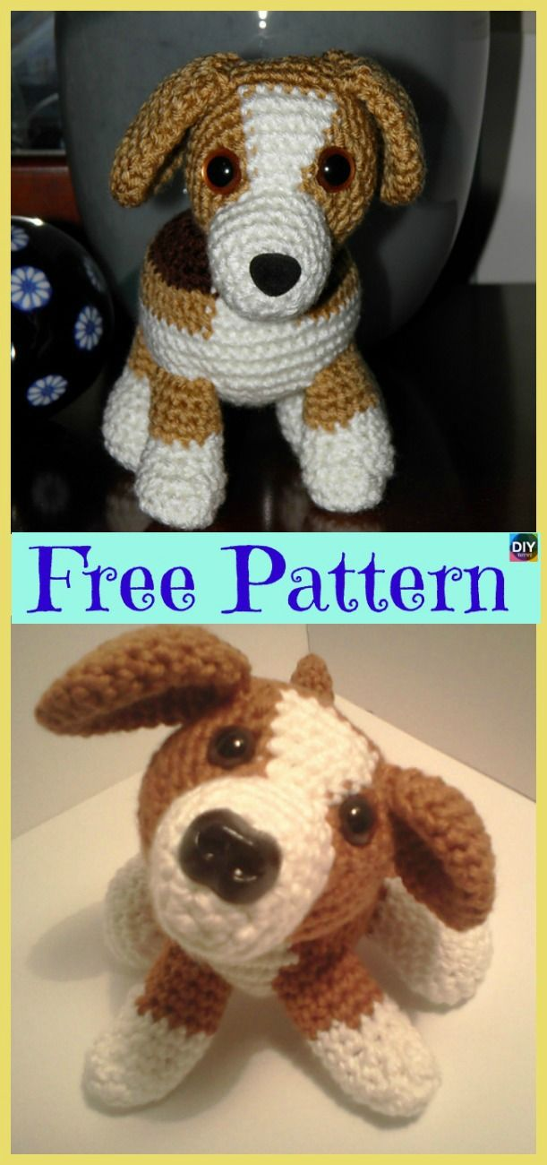 15 Adorable Crochet Puppy Dog Free Patterns Amiguri Pinterest