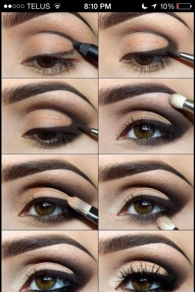 step by step cat eye makeup makeup pinterest cat. Black Bedroom Furniture Sets. Home Design Ideas