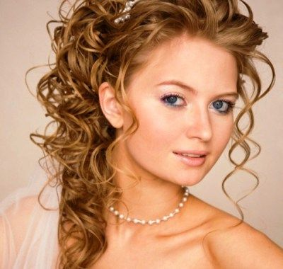 Wedding Hairstyles for Curly Hair 2012