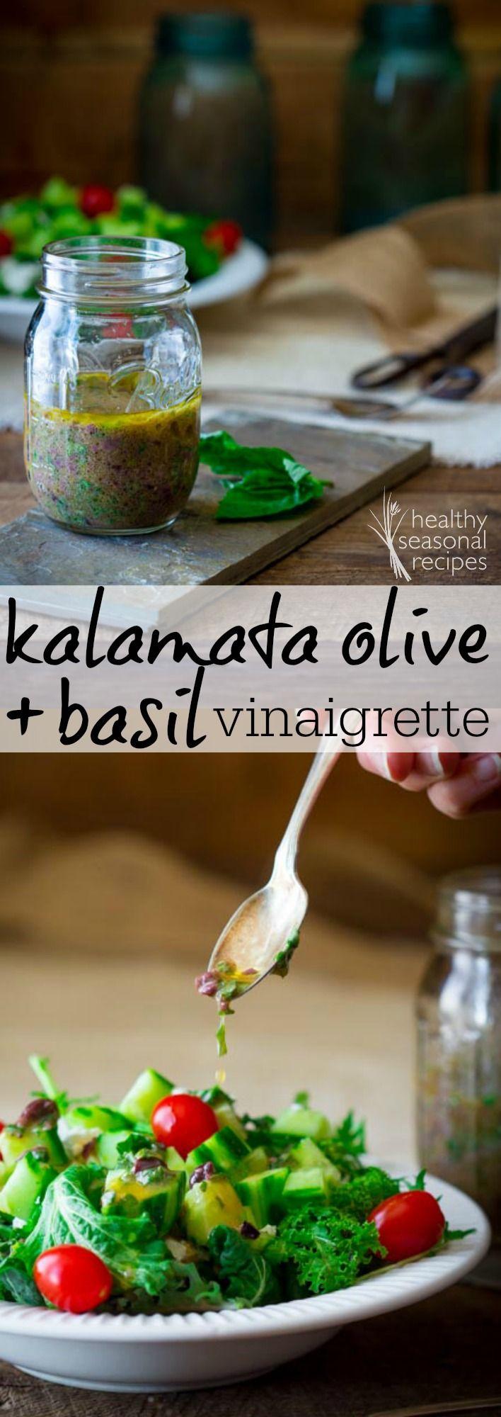 kalamata olive and basil vinaigrette - Healthy Seasonal Recipes