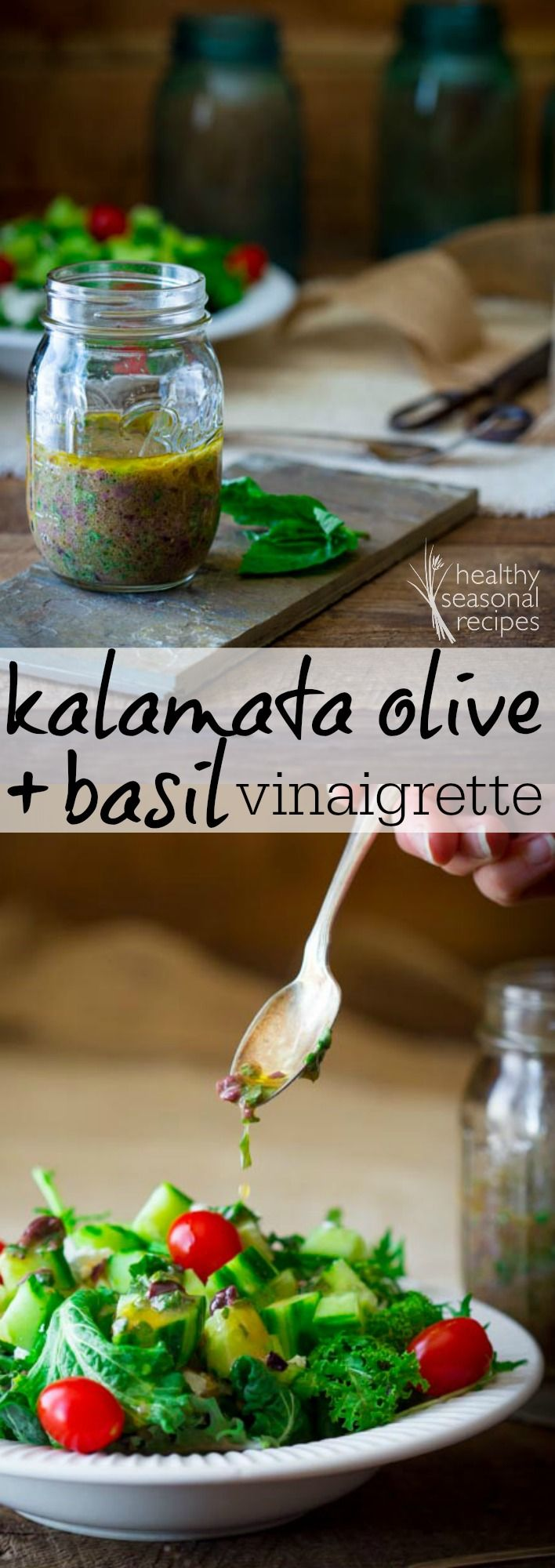 kalamata olive and basil vinaigrette - Healthy Seasonal Recipes