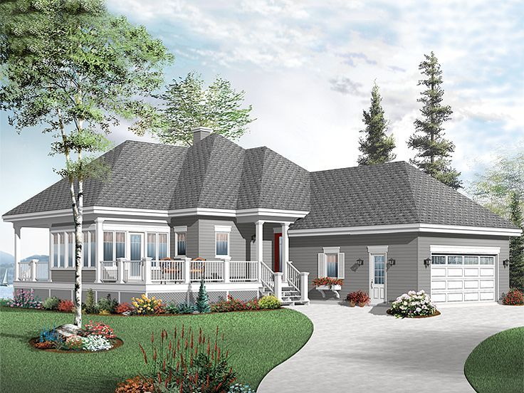 027H 0352: Waterfront Vacation Home Plan Offers Plenty Of Outdoor Living