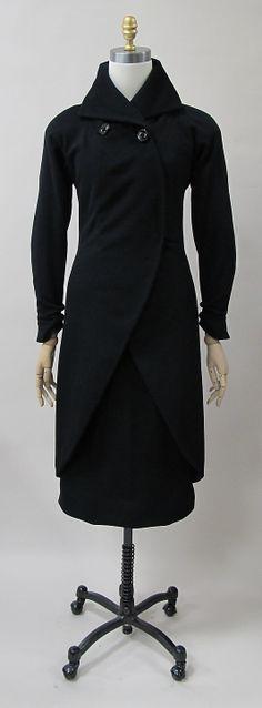 Suit, Charles James, 1933, wool. -The Metropolitan Museum of Art 2013.412.a, b