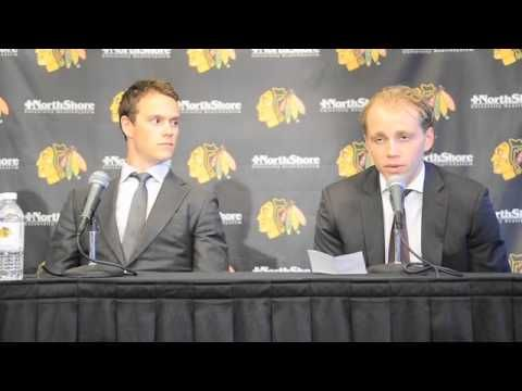 Blackhawks' Jonathan Toews and Patrick Kane News Conference
