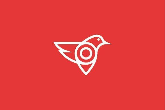 Pin Bird App Logo. Travel Icons. $2.00