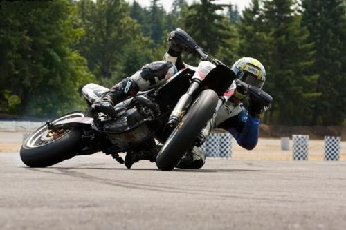Drifting a bike The expert level of controlling your fear SuperMoto- how low can you go?