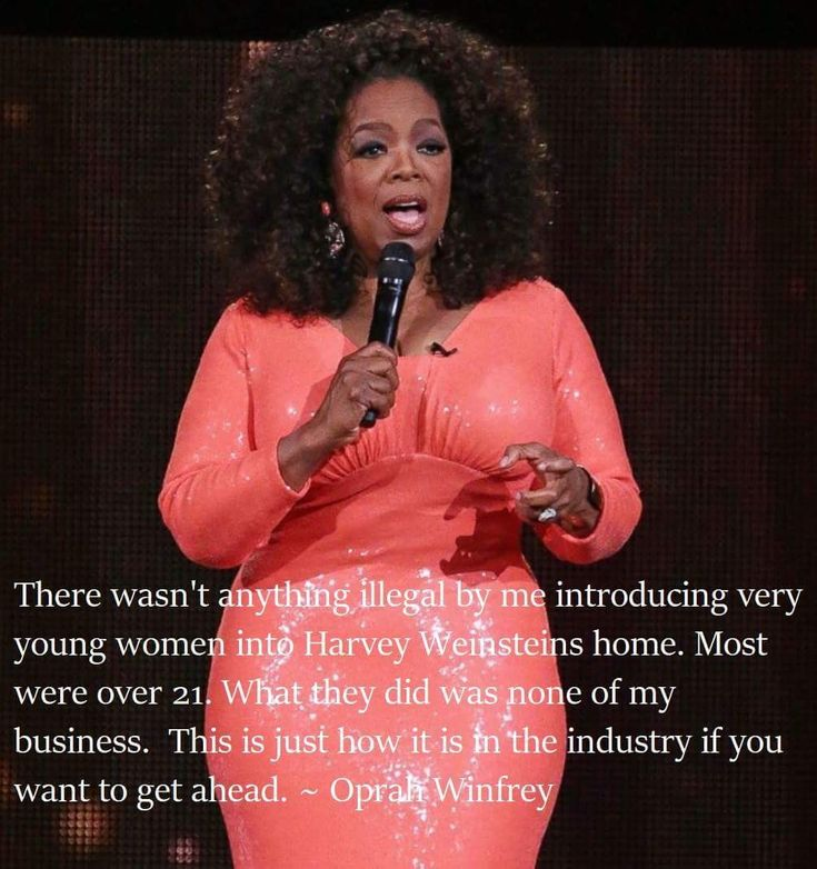 Oprah:  a racist and a provider of young women to rape by Hollywood liberal elites.  Short trip to hell for you, you disgusting excuse for a human being! SHAME ON YOU!!!