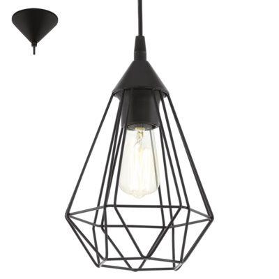 Lampa wisząca Eglo Vintage Tarbes 60W czarna E27 industrial 94187 - wysyłka w 24h - sklep internetowy swiatloistyl.pl