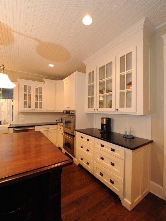 Craftsman Style kitchen kitchen cabinets white