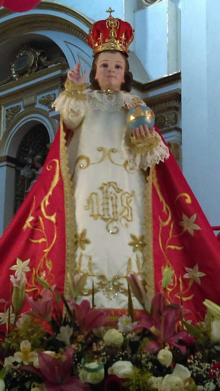 Divino Niño Jesús de Praga. Venerado en el templo del Carmen en Celaya Guanajuato