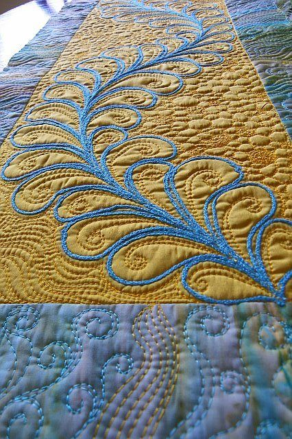 Free motion quilting is truly an art
