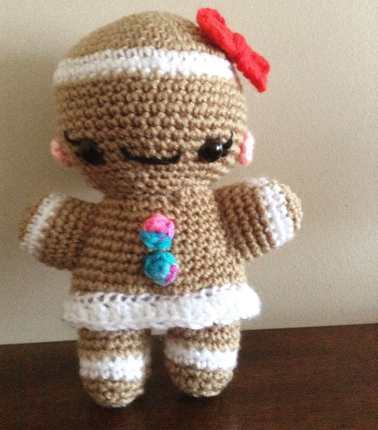 Ginger bread girl Amigurumi crochet