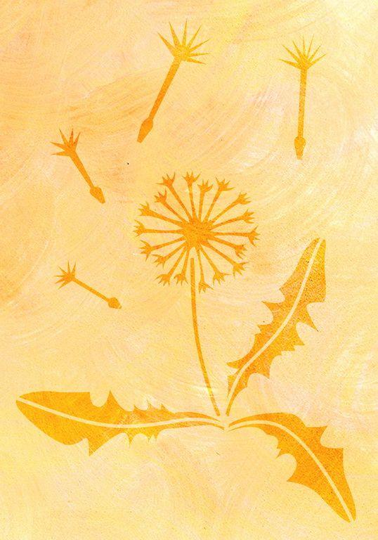 Pusteblume Malerschablone   Wiederverwendbare Tupfschablone, Abwaschbar,  Individuelle Wandschablone Für Ihre Wandgestaltung.